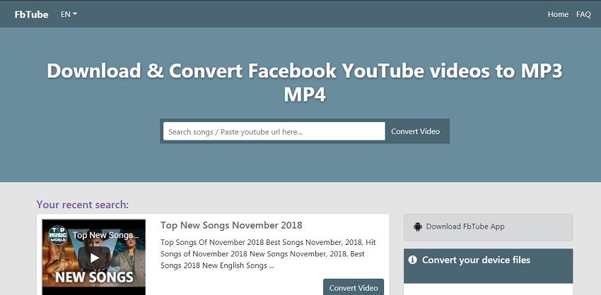 Best Youtube Video Song To Mp3 Converter Downloader Fbtube